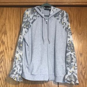 Susan Graver French Terry Jacket w/Chiffon Sleeves